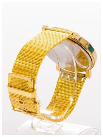 Złoty zegarek damski na metalowej bransolecie                                  zdj.                                  3