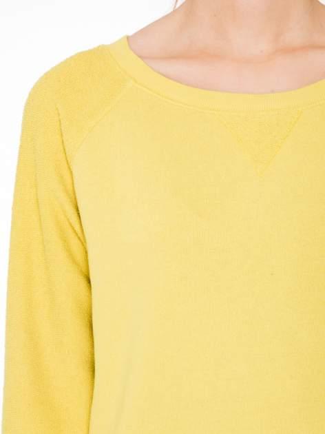 Żółta bluza oversize z łączonych materiałów                                  zdj.                                  5