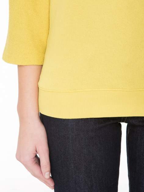 Żółta bluza oversize z łączonych materiałów                                  zdj.                                  6