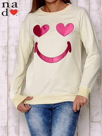 Żółta bluza z motywem emoji