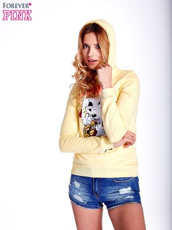 Żółta bluza z nadrukiem psa                                  zdj.                                  5