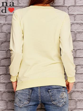 Żółta bluza z napisem ŁOBUZIARA                                  zdj.                                  2