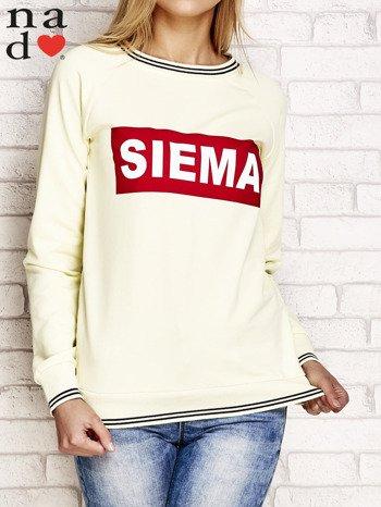 Żółta bluza z napisem SIEMA                                  zdj.                                  1