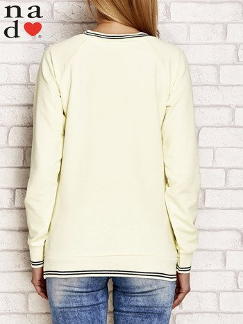 Żółta bluza z napisem SIEMA                                  zdj.                                  2