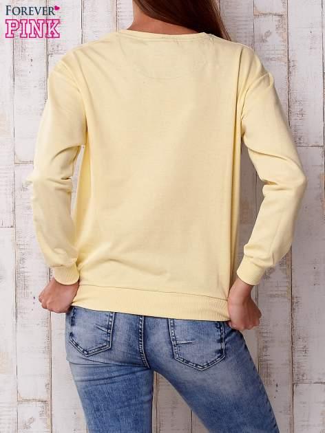 Żółta bluza z napisem WILD HEARTS CAN'T BE TAKEN                                  zdj.                                  3