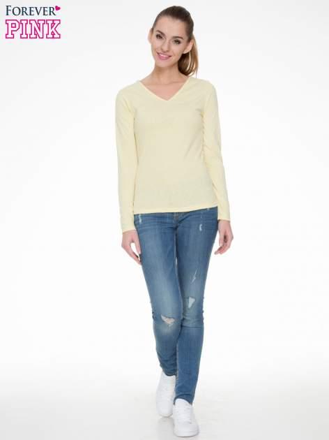 Żółta bluzka z długim rękawem z bawełny                                  zdj.                                  2