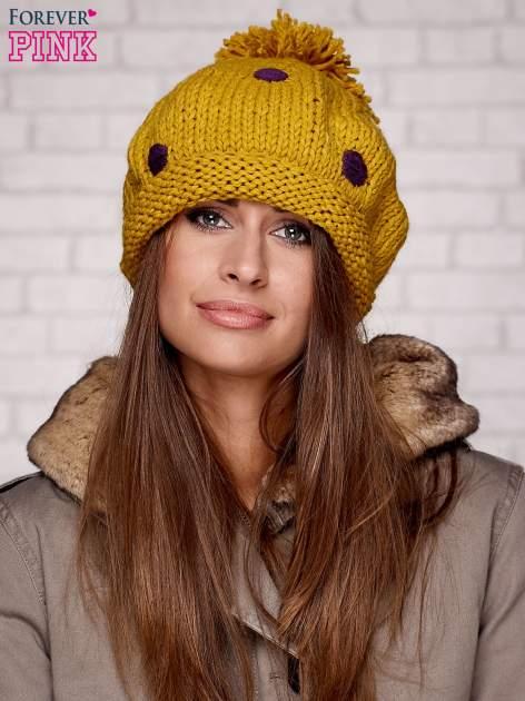 Żółta czapka w grochy                                  zdj.                                  1