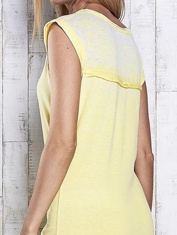 Żółta długa sukienka acid wash                                   zdj.                                  7