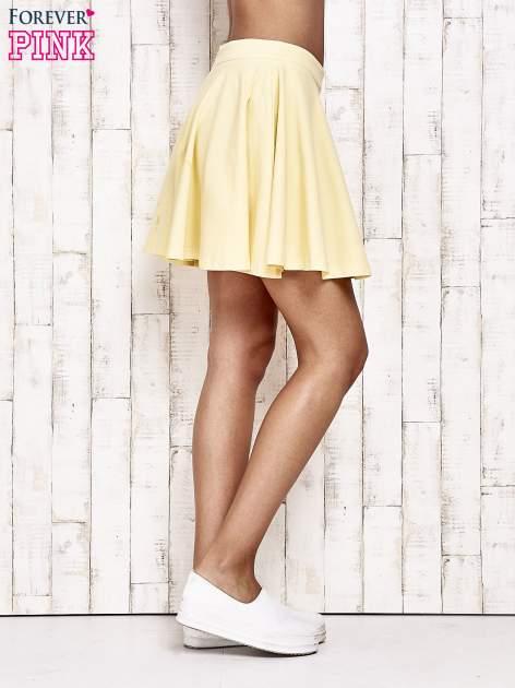 Żółta dresowa spódnica szyta z koła                                  zdj.                                  3