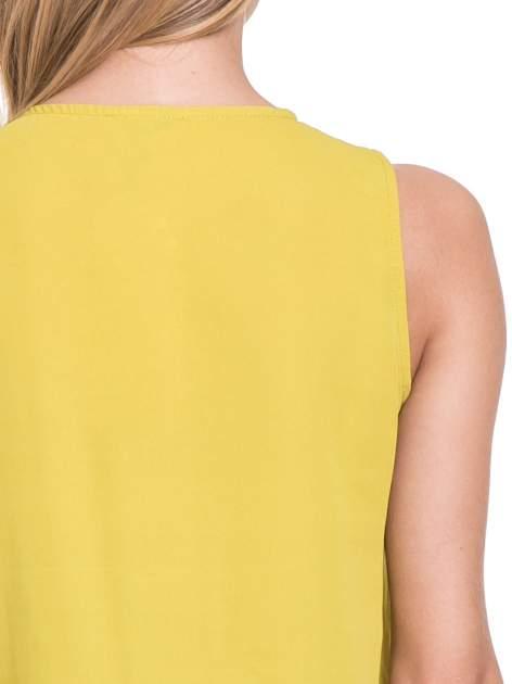 Żółta elegancka koszula z żabotem                                  zdj.                                  7
