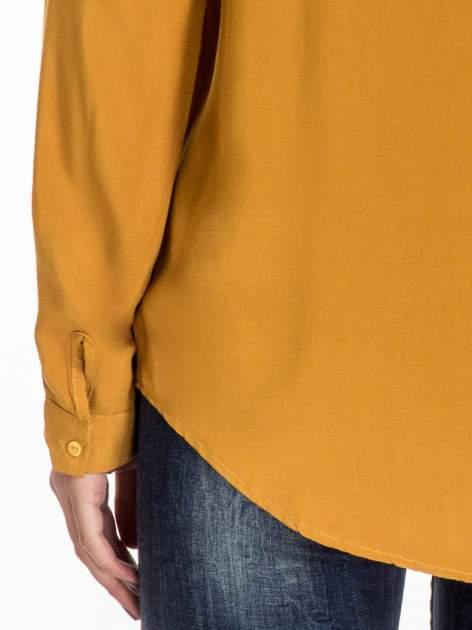 Żółta koszula z haftowanym kołnierzykiem                                  zdj.                                  7