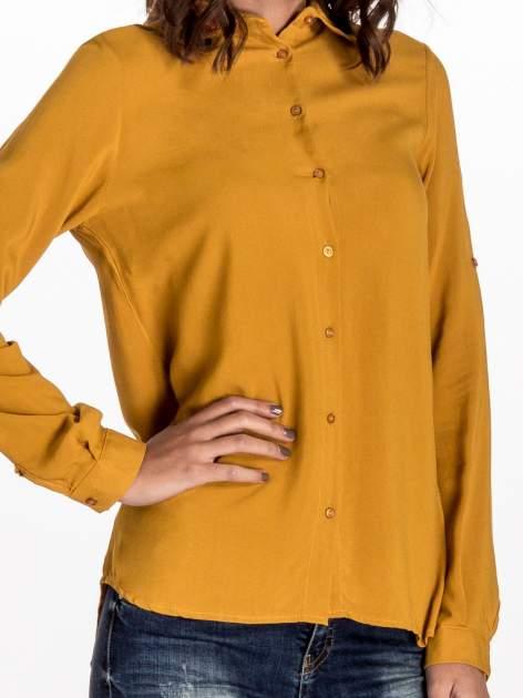 Zółta koszula z haftowanym kołnierzykiem                                  zdj.                                  5