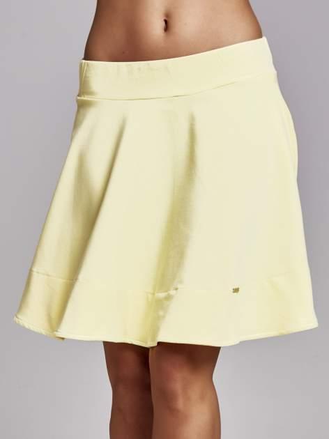 Żółta spódnica dresowa skater                                  zdj.                                  1