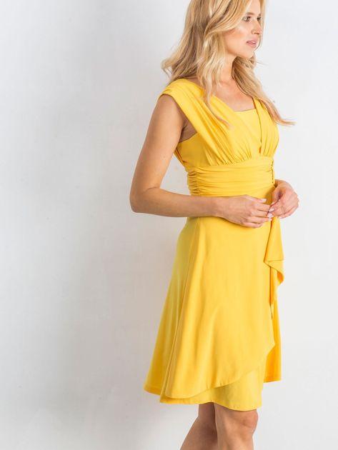 Żółta sukienka Decorative                              zdj.                              3