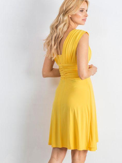 Żółta sukienka Decorative                              zdj.                              2