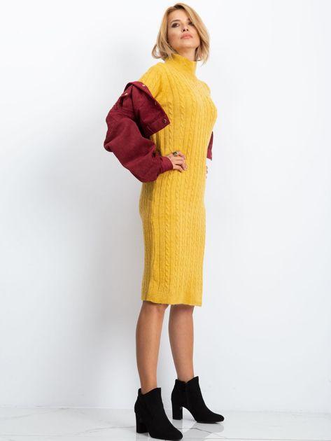 Żółta sukienka Evermore                              zdj.                              3