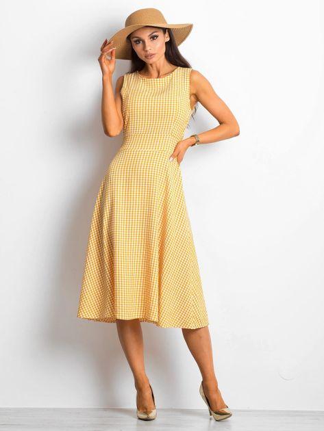 Żółta sukienka Respected                              zdj.                              1