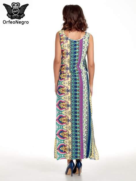 Zółta sukienka grecka w kwiatowe wzory                                  zdj.                                  2