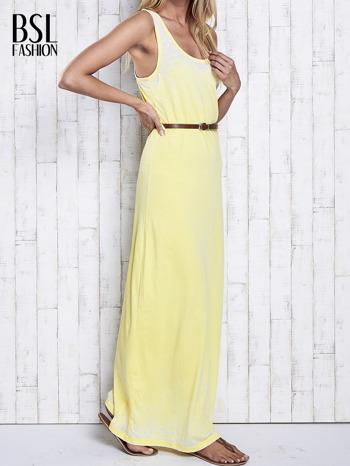 Żółta sukienka maxi acid wash                                  zdj.                                  3