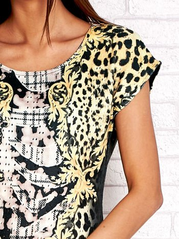 Żółta sukienka z tygrysim nadrukiem                                  zdj.                                  5