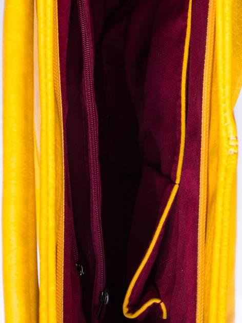 Żółta torba hobo z suwakami po bokach                                  zdj.                                  5