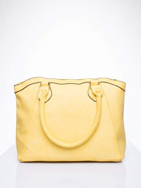 Żółta torba miejska ze złotą zaiweszką                                  zdj.                                  3