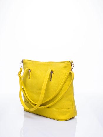 Żółta torba shopperka z odczepianym paskiem                                   zdj.                                  3