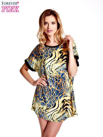 Żółta tunika z tygrysim nadrukiem