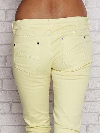 Żółte proste spodnie z napami                                  zdj.                                  5