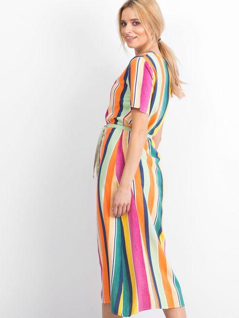 Żółto-różowa sukienka Mishaps                              zdj.                              2