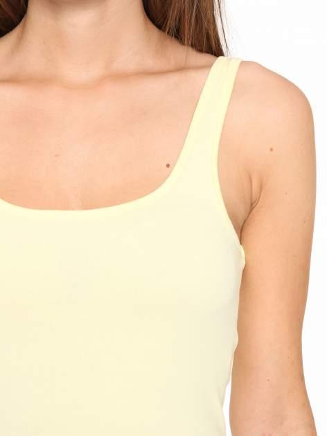 Żółty gładki top na szerokich ramiączkach                                  zdj.                                  6