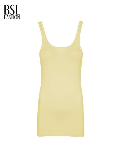 Żółty gładki top na szerokich ramiączkach                                  zdj.                                  2