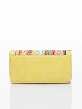 Żółty portfel z plecionką                                  zdj.                                  2