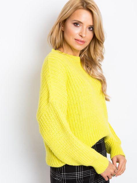 Żółty sweter Zoe                              zdj.                              3