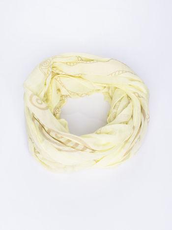 Żółty szal w graficzny, organiczny wzór