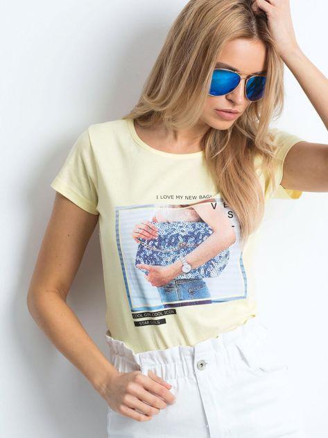Żółty t-shirt Leisure                              zdj.                              1