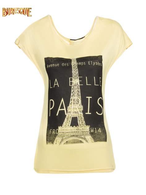 Żółty t-shirt z motywem Paryża