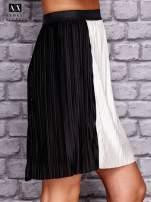 ARMANI Czarna plisowana spódnica two tone                                  zdj.                                  2
