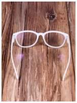 BIAŁE! Modne okulary zerówki klasyczne - soczewki ANTYREFLEKS,system FLEX na zausznikach                                                                          zdj.                                                                         5