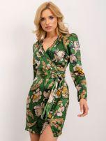 BSL Zielona sukienka z nadrukiem                                  zdj.                                  1