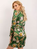 BSL Zielona sukienka z nadrukiem                                  zdj.                                  2