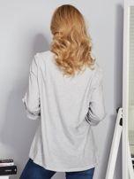 Bawełniana melanżowa bluzka jasnoszara                                  zdj.                                  2
