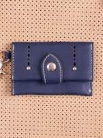 Beżowa dziurkowana torba shopper z portfelem                                  zdj.                                  5