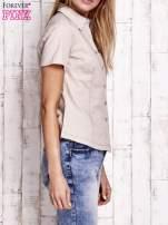 Beżowa koszula z krótkim rękawem                                  zdj.                                  3