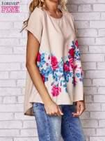 Beżowa koszula z motywem kwiatów                                  zdj.                                  3