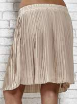Beżowa plisowana spódnica do kolan                                  zdj.                                  7