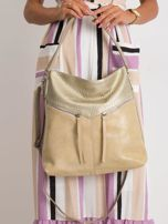Beżowa torba damska z ekoskóry                                  zdj.                                  1
