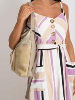 Beżowa torba damska z ekoskóry                                  zdj.                                  3