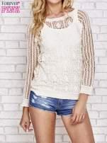 Beżowy szydełkowy sweterek                                  zdj.                                  1