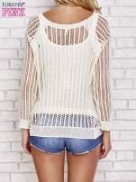 Beżowy szydełkowy sweterek                                  zdj.                                  4